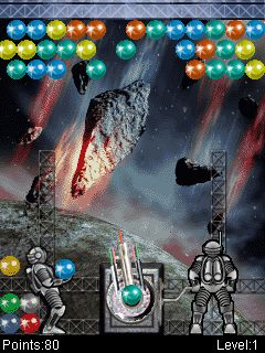Mobile game Bubble Crash Silver Edition - screenshots. Gameplay Bubble Crash Silver Edition.