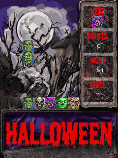 Download free game for mobile phone: Halloween Blocks - download mobile games for free.