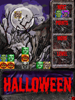 Mobile game Halloween Blocks - screenshots. Gameplay Halloween Blocks.