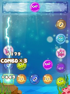 Jeu mobile Bulles qui dansent - captures d'écran. Gameplay Dancing bubbles.