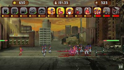 Jeu mobile Joueurs de baseball contre Zombies - captures d'écran. Gameplay Baseball vs Zombies.