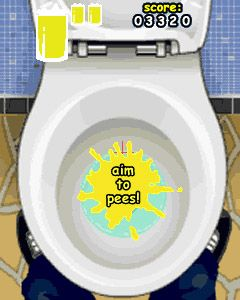 Mobile game WII Sports (Toilet Training: We aim to Pee) - screenshots. Gameplay WII Sports (Toilet Training: We aim to Pee).
