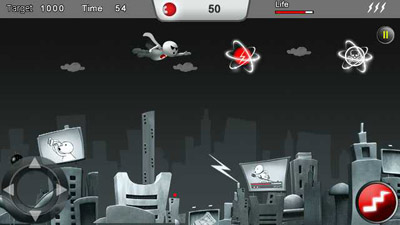 Mobile game Fly with super Zoozoo - screenshots. Gameplay Fly with super Zoozoo.