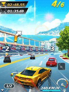Скриншот java игры GT Racing 2: The real car experience. Игровой процесс.