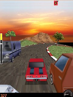 Скриншот java игры Speed Chaser 3D. Игровой процесс.