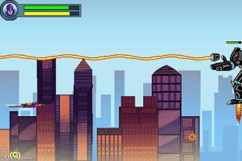 Mobil-Spiel Falke - der Superheld  - Screenshots. Spielszene Hawk The Super Hero.