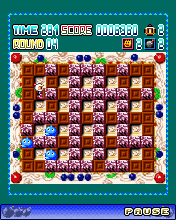Скриншот java игры Super Bomberman. Игровой процесс.