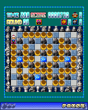 Mobil-Spiel Super-Bombermann - Screenshots. Spielszene Super Bomberman.