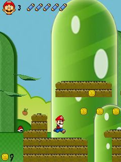 Jeu mobile Super Mario: Version Cogumelo - captures d'écran. Gameplay Super Mario Versao Cogumelo BR.