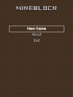 Download free MineBlock - java game for mobile phone. Download MineBlock