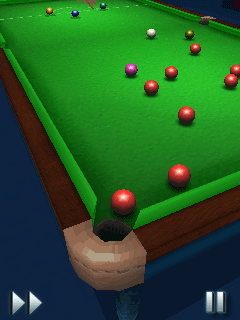 Mobile game World Snooker Championship 09 3D - screenshots. Gameplay World Snooker Championship 09 3D.