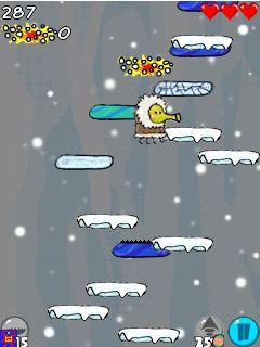 Download free game for mobile phone: Doodle Jump: Cold days - download mobile games for free.