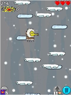 Mobile game Doodle Jump: Cold days - screenshots. Gameplay Doodle Jump: Cold days.