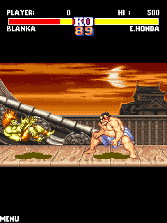 Mobile game Street Fighter 2 - screenshots. Gameplay Street Fighter 2.