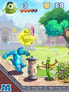 Download free mobile game: Monsters university - download free games for mobile phone.