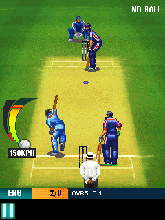 Скриншот java игры Cricket: India vs England. Игровой процесс.