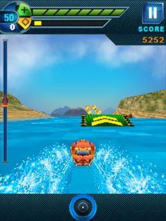 Скриншот java игры Jet boat 3D. Игровой процесс.