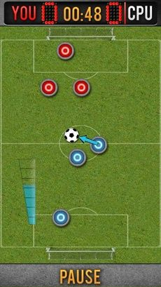 Mobile game Genius button football - screenshots. Gameplay Genius button football.
