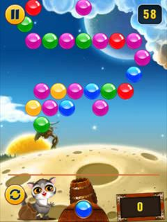 Mobile game Bubble shooter - screenshots. Gameplay Bubble shooter.