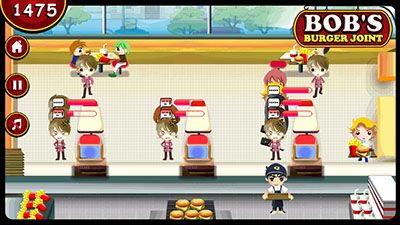 Jeu mobile Les burgers de Bob - captures d'écran. Gameplay Bob's burger joint.