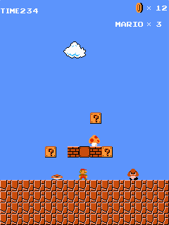 Download free mobile game: Super Mario Bros - download free games for mobile phone.
