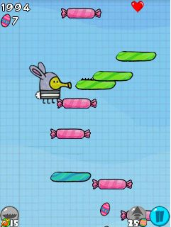 Mobile game Doodle Jump: Easter - screenshots. Gameplay Doodle Jump: Easter.