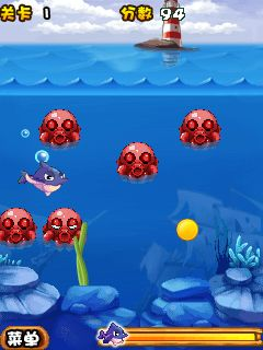 Download free game for mobile phone: Love of the ocean: Crazy dolphins - download mobile games for free.