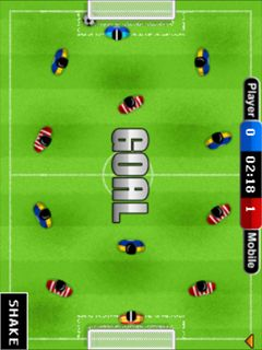 Mobile game Table soccer - screenshots. Gameplay Table soccer.