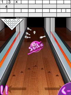 Mobile game Bowling compete - screenshots. Gameplay Bowling compete.