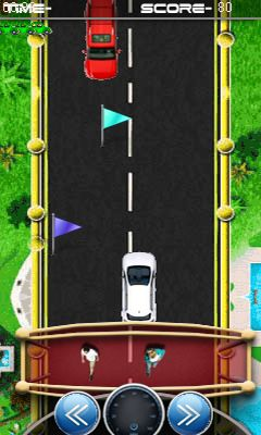 Download free game for mobile phone: Racing the one way - download mobile games for free.
