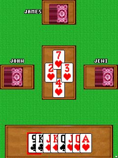 Download free game for mobile phone: Hearts classic - download mobile games for free.