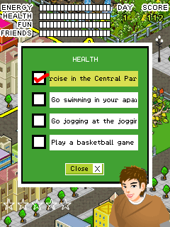 Скриншот java игры Central park: An eco living game. Игровой процесс.