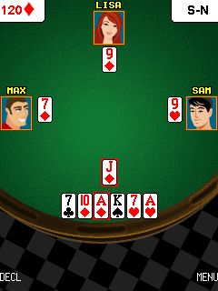 Jeu mobile Poker belote - captures d'écran. Gameplay Belote poker.