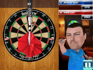 Скриншот java игры PDC World championship darts 2013. Игровой процесс.