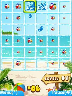 Скриншот java игры Beach ball fun. Игровой процесс.