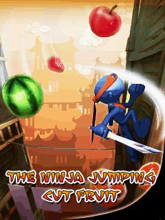 The ninja jumping: Cut fruit