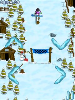 Mobile game Extreme snowboarding - screenshots. Gameplay Extreme snowboarding.