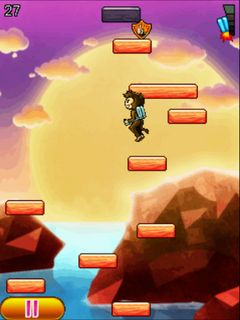 Download free game for mobile phone: Aero jumping monkey - download mobile games for free.