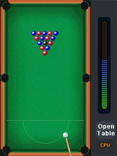 Download free mobile game: World championship pool 2010 3D - download free games for mobile phone.