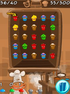 Download free mobile game: Muffin monster match - download free games for mobile phone.