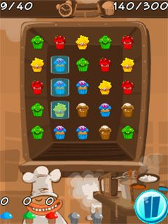 Download free game for mobile phone: Muffin monster match - download mobile games for free.