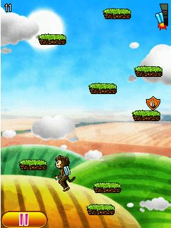 Download free mobile game: Aero monkey jumping - download free games for mobile phone.
