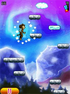 Mobile game Aero monkey jumping - screenshots. Gameplay Aero monkey jumping.