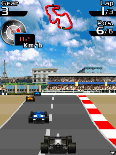 Скриншот java игры Jenson Button: Grand prix racer. Игровой процесс.