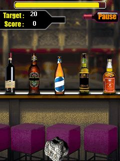 Download free mobile game: Bottle shooter - download free games for mobile phone.