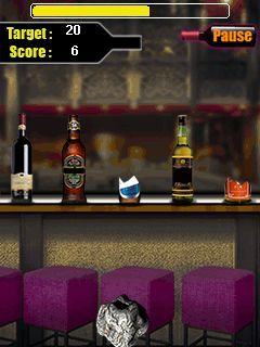 Download free game for mobile phone: Bottle shooter - download mobile games for free.