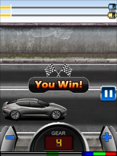 Скриншот java игры Speed drag racing. Игровой процесс.