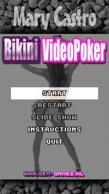 Download free mobile game: Bikini video poker with Mary Castro - download free games for mobile phone.