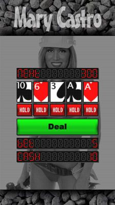 Mobile game Bikini video poker with Mary Castro - screenshots. Gameplay Bikini video poker with Mary Castro.
