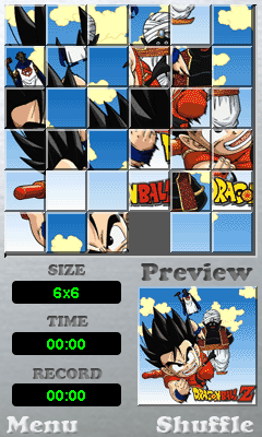Jeu mobile La Balle Z de Dragon: les Puzzles - captures d'écran. Gameplay Dragon ball Z: Puzzle.